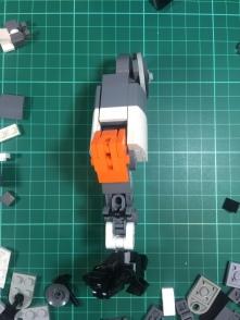 Leg work: Revised thicker leg design (front)